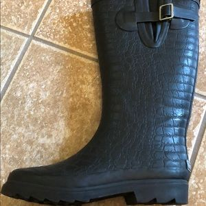 Rampage Shoes - Black rubber rain boots